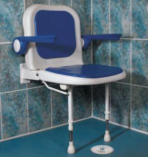 Attrayant Wall Mounted Shower Seat With Back And Arm Rests   Shower Seats For The  Disabled U0026